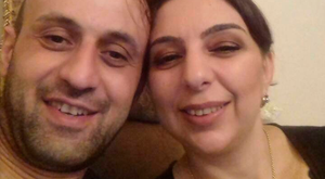 Ilabek Avetian and wife Anzhela before the accident