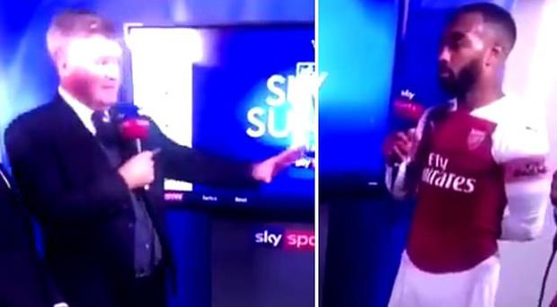 Watch: Sky Sports presenter Geoff Shreeves apologises to Alexandre Lacazette after swearing confusion
