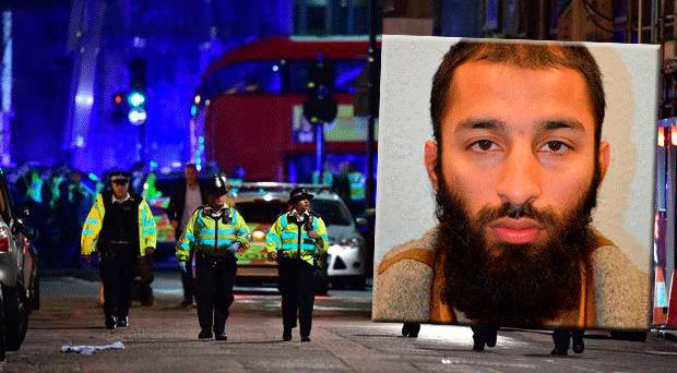 Khuram Butt (inset) was the leader of the terror attack on London Bridge, which claimed the lives of eight innocent people