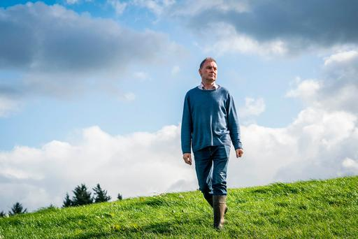 John Comer on his dairy and beef farm in Ballyvary, Co. Mayo. Photo: Keith Heneghan