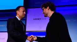 Friendly: Taoiseach Leo Varadkar at Paddy Cosgrave's MoneyConf back in June. Photo: Stephen McCarthy/Sportsfile via Getty Images