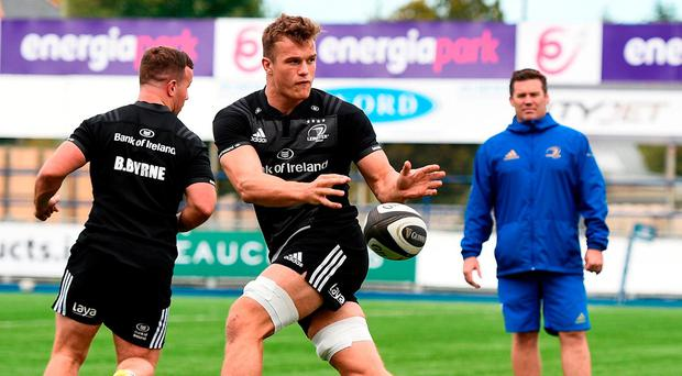 Josh van der Flier, during training in Donnybrook yesterday, is back to full fitness after a lengthy absence. Photo: Sam Barnes/Sportsfile