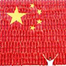 Heating up: A man poses in front of a giant Chinese flag decorated with red chili peppers in Henan province ahead of the Chinese National Day (October 1). Photo: Reuters