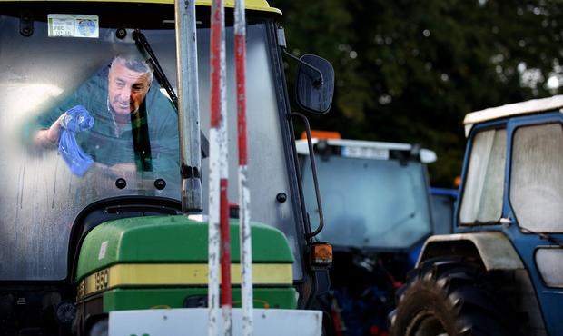 Tom Donnelly gets his tractor ready for ploughing. Picture;Gerry Mooney.