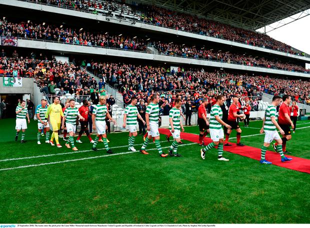 Páirc Uí Chaoimh staged the Liam Miller Memorial match between Manchester United Legends and Republic of Ireland & Celtic Legends last September. Photo by Stephen McCarthy/Sportsfile