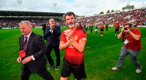 25 September 2018; Roy Keane of Manchester United Legends following the Liam Miller Memorial match between Manchester United Legends and Republic of Ireland & Celtic Legends at Páirc Uí Chaoimh in Cork. Photo by Stephen McCarthy/Sportsfile