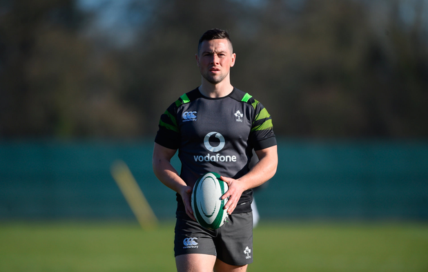 John Cooney during Ireland Rugby squad training. Photo by David Fitzgerald/Sportsfile