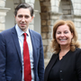 Health talks: Health Minister Simon Harris and national clinical leader for sepsis Dr Vida Hamilton. Photo: Photocall Ireland