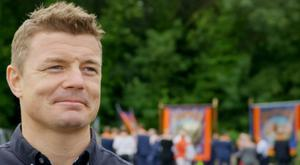 O'Driscoll met up with members of the Orange Order, a decision the former Ireland captain has said he does not regret – even though the catholic from Dublin received abuse for it CREDIT: BT SPORT