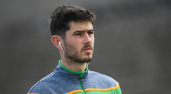 21 July 2018; Ryan McHugh of Donegal ahead of the GAA Football All-Ireland Senior Championship Quarter-Final Group 2 Phase 2 match between Roscommon and Donegal at Dr Hyde Park in Roscommon. Photo by Ramsey Cardy/Sportsfile