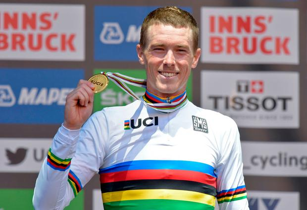 Rohan Dennis finished over a minute ahead of the second fastest rider. Photo: Getty Images
