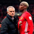 Pogba's social media message posted shortly after Jose Mourinho was sacked by Manchester United was hastily deleted. Photo: PA