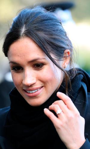 Meghan Markle arrives to a walkabout at Cardiff Castle on January 18, 2018 in Cardiff, Wales. | Photo by Chris Jackson/Chris Jackson/Getty Images