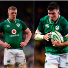 Dan Leavy (left), Peter O'Mahony (centre) and Josh van der Flier (right) are all competing for a place in the Irish team.