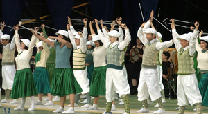 Els Comediants perform during the opening ceremony of the 36th Ryder Cup at the K Club, Straffan in 2006