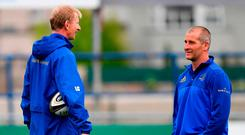 Teamwork: Leo Cullen and Stuart Lancaster are working perfectly in tandem to build a dynasty at Leinster. Photo: Ramsey Cardy/Sportsfile