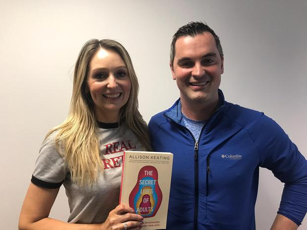 Karl Henry and Allison Keating with her first book, 'The Secret Lives of Adults'