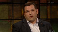 Mike Ross on The Late Late Show on RTE One