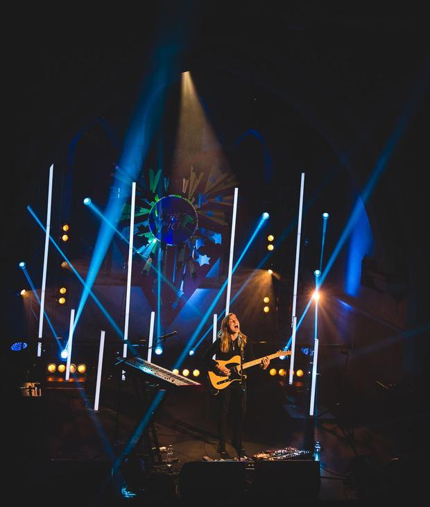Julien Baker performing at St. Michael's Church for Other Voices, Ballina