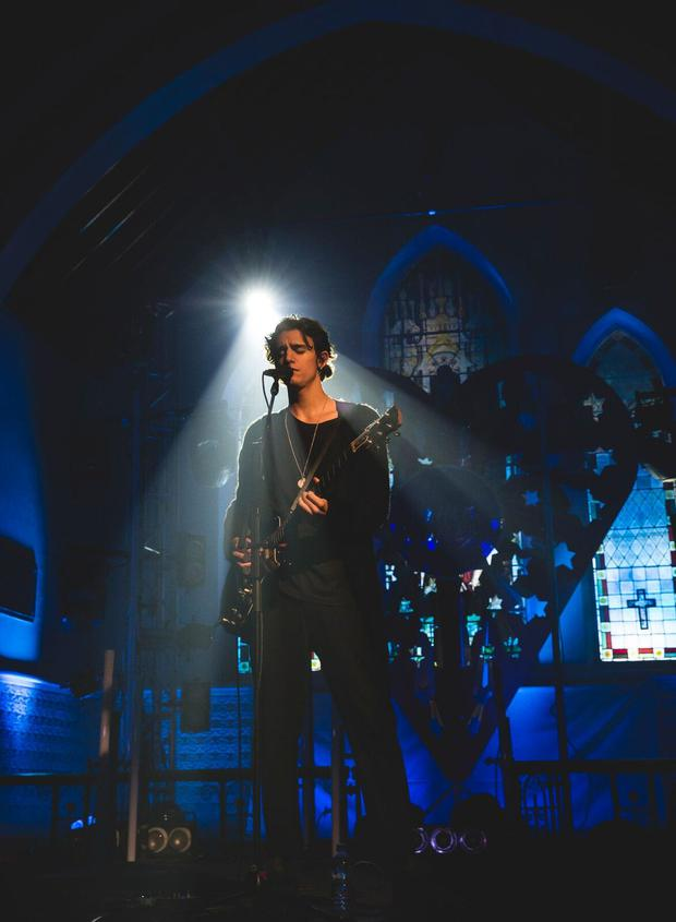 Tamino performing at St. Michael's Church for Other Voices, Ballina