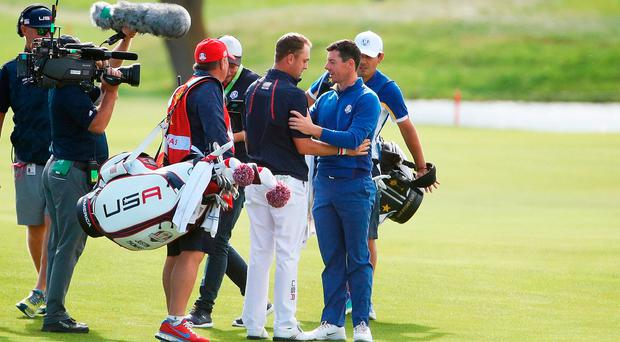 'I told Rory I've looked up to him for a long time' - Justin Thomas shows respect for McIlroy after tense Ryder Cup win