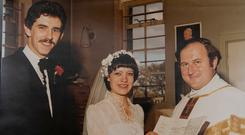 Peter and Kathleen Cullen on their wedding day in 1981