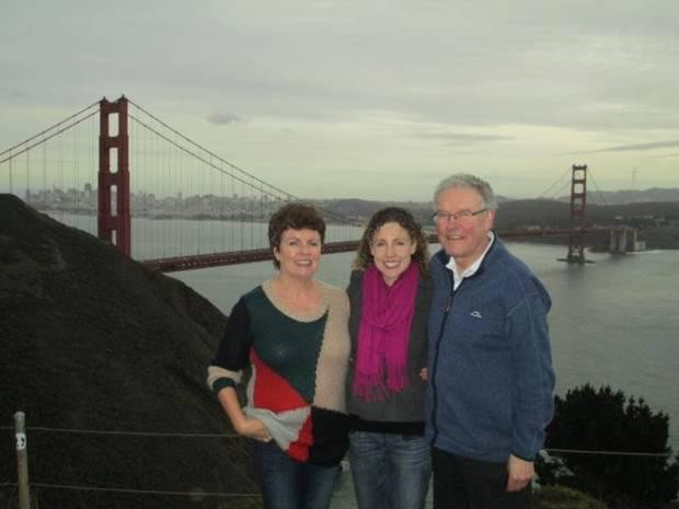 Maura's mum and dad visiting her in San Francisco