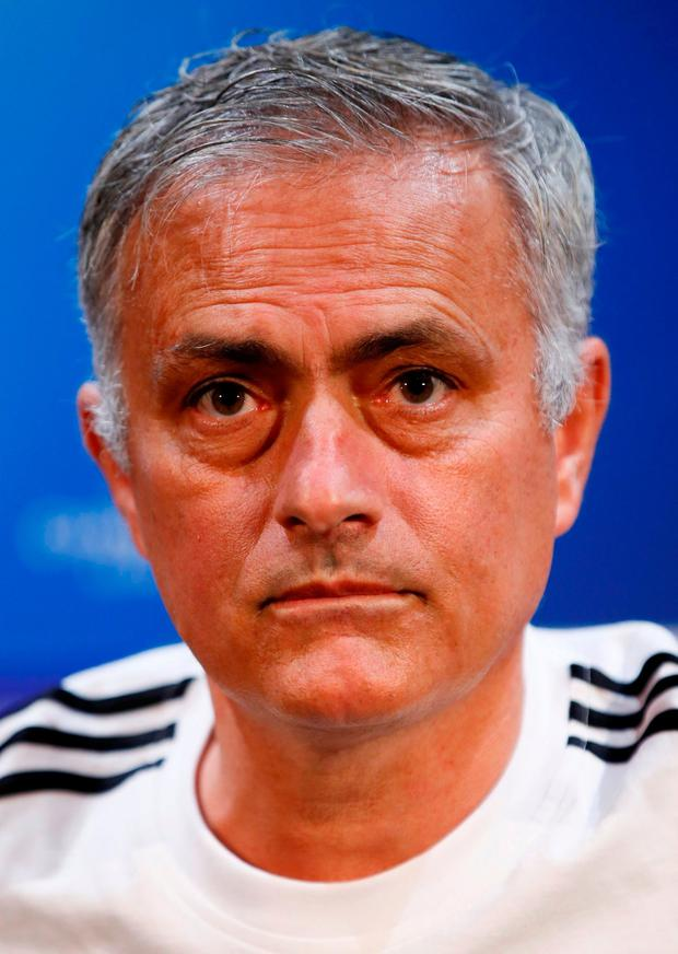Soccer Football - Champions League - Manchester United Press Conference - Old Trafford, Manchester, Britain - October 1, 2018 Manchester United manager Jose Mourinho during the press conference Action Images via Reuters/Jason Cairnduff