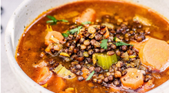 Indy Power's winter spiced lentil soup