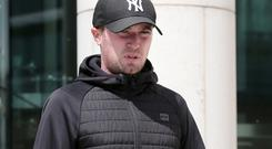 Martin Aylmer (31), of Casino Park, Marino, Dublin 3, pictured leaving the Special Criminal Court in Dublin Pic Collins Courts.