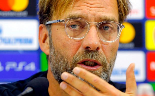 Liverpool manager Jurgen Klopp during the press conference REUTERS  Ciro De Luca