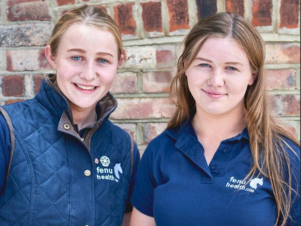 Not your typical teens: Kate (left) and Annie Madden from Co Meath, co-founders of FenuHealth