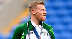 James McClean: His presence will strengthen Martin O'Neill's options for double-header. Photo by Stephen McCarthy/Sportsfile