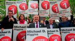 Party leader Brendan Howlin said Mr Higgins's campaign team had approved a €70,000 spend, but the party expected to spend an amount similar to its outlay during its campaign to repeal the Eighth.