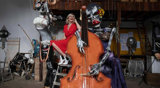 Deadly craic: Singer Gemma Sugrue launches the Dia De Los Muertos Jazz Parade, which will open this year's Guinness Cork Jazz Festival. Photo: Clare Keogh