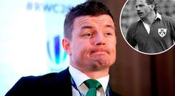 Brian O'Driscoll and (inset) Nigel Carr