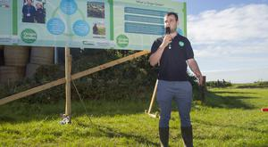 Damien Murray, Bord Bia, at a Bord Bia and Teagasc Knowledge Transfer (KT) farm walk in Ballymonis, Whitegate on the farm of Michael and David Hartnett.