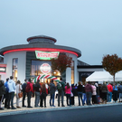 People queue outside Krispy Kreme's at 6:30.am at the official opening of Krispy Kreme's first ever Irish store in Blanchardstown Centre last year. Photo: Leon Farrell/Photocall Ireland.