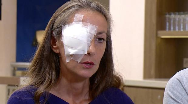 Ryder Cup fan who was blinded in one eye by wayward tee shot says she could have died
