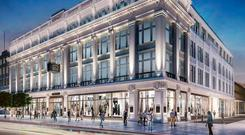 Iconic: An artist's impression of how the former Clerys department store will look once it is redeveloped