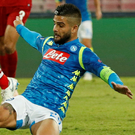 Lorenzo Insigne scores the winner for Napoli against Liverpool last night. Photo: Reuters