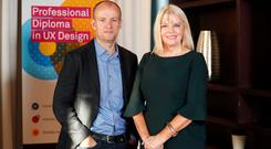 Colman Walsh, Founder and Director, UX Design Institute and Mary Mitchell O'Connor, Minister of State for Higher Education
