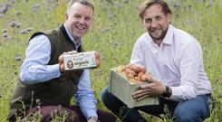 Pictured Brian Eivers and Stuart Whitton of the Nest Box Egg Company.