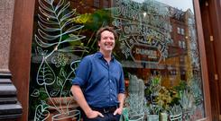Relentless passion: Gardener Diarmuid Gavin at his Outer Spaces shop at Dunnes Stores, South Great Georges Street in Dublin. Picture: Caroline Quinn