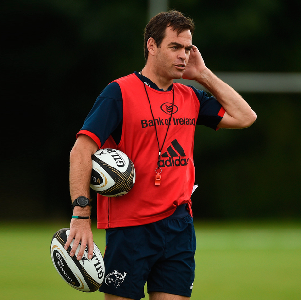 Man with a mission: Munster coach Johann van Graan is working hard on the training pitch to make Munster into a real force again. Photo: Sportsfile