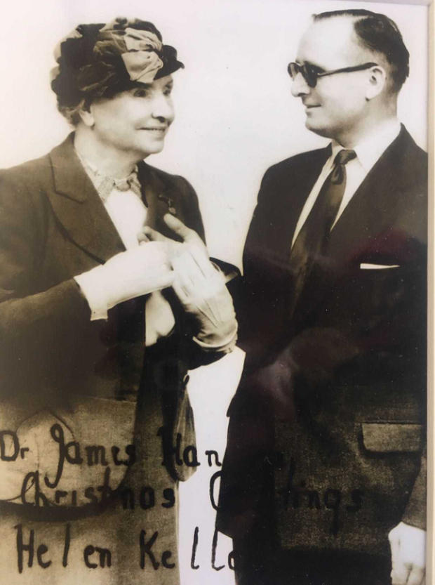 Helen Keller and Dr James Hanlon