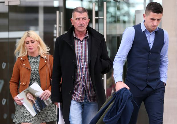 Family and friends of murdered Samantha Walsh, leave the Central Criminal Court in Dublin today after Danny Whelan (30), of no fixed abode, was given the mandatory life sentence Pic Collins Courts.