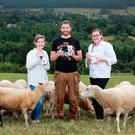 Family business: George Finlay pictured with finacee Hannah Sheerin (left) and sister and chef Amanda Finlay with some of the their Ballyhubbock ice cream. Photo: Frank McGrath