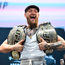 Conor McGregor is all smiles following a press conference for UFC 229 at the Park Theatre in Las Vegas. Picture: Sportsfile