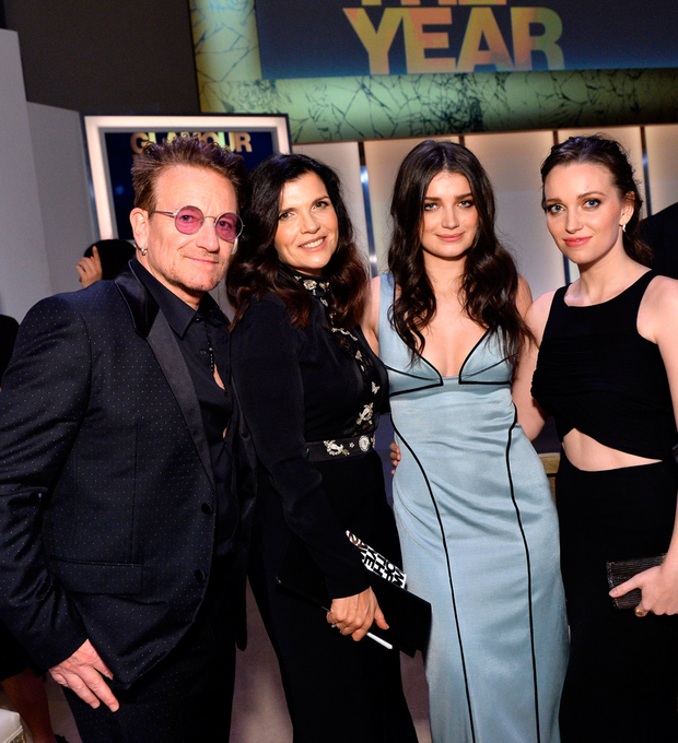 Bono, Ali Hewson, Eve Hewson and Jordan Hewson. Photo: Stefanie Keenan